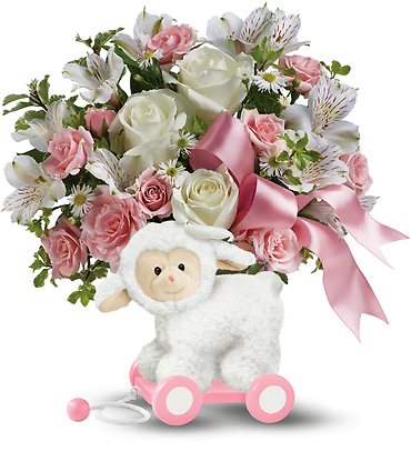 Teleflora\'s Sweet Little Lamb - Baby Pink