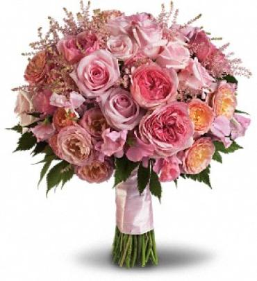 Pink Rose Garden Bouquet