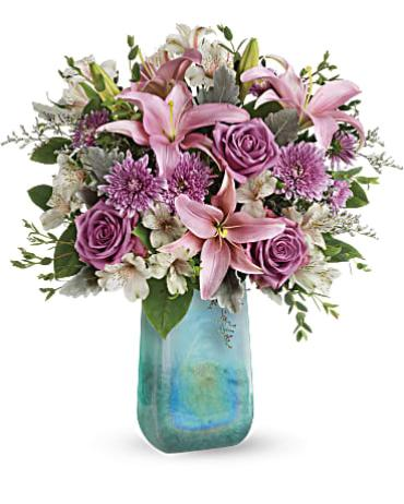 Teleflora Art Glass Treasure Bouquet