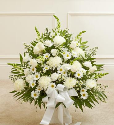 White Sympathy Floor Basket